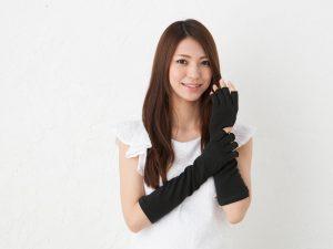 GlovesDEPO グローブデポ オーガニックコットン100% 洛陽染 UV手袋 黒